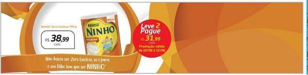 Oferta de Ninho Zero Lactose 700g por R$38,99