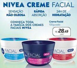 Oferta de Creme facial Nivea por R$28,49