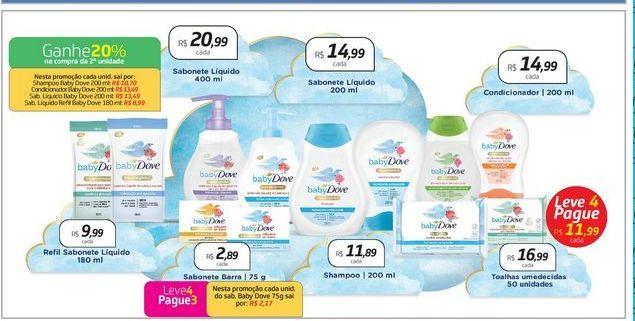 Oferta de Shampoo Baby Dove por R$11,89