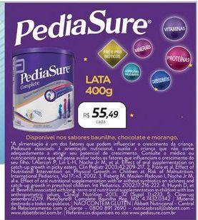 Oferta de PediaSure por R$55,49
