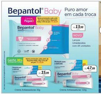 Oferta de Lenços umedecidos Bepantol Baby por R$13,99