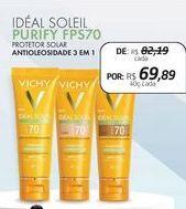 Oferta de Protetor solar Vichy por R$69,89