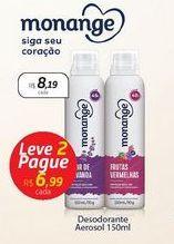 Oferta de Desodorante Aerosol Monange por R$8,19