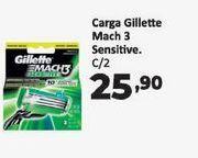 Oferta de Faca de barman Gillette mach 3 sensitive C/2 por R$25,9