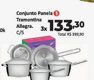 Oferta de Conjunto de panelas Tramontina Allegra c/5 por R$133,3