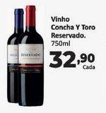 Oferta de Vinhos Concha y Toro reservado 750 ml por R$32,9