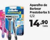 Oferta de Aparador de barba Gillette pestobarba 3 c/2 un por R$14,9