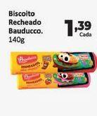 Oferta de Biscoitos Bauducco recheado 140 gr por R$1,39