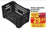 Oferta de Caixa agrícola preta Aro por R$29,61