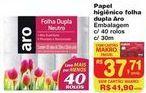 Oferta de Papel higiênico Aro por R$37,71
