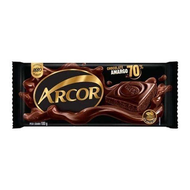 Oferta de Chocolate Barra Arcor Amargo 70% Cacau 80G por R$6,99