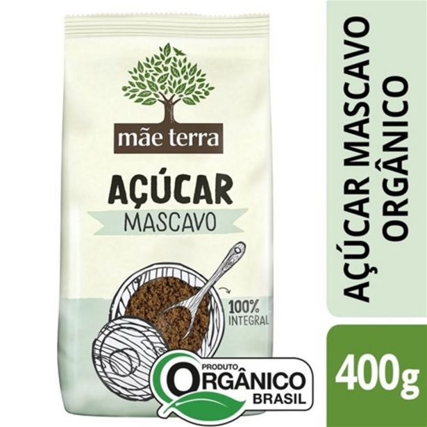 Oferta de Açúcar Mascavo Mãe Terra Orgânico 400G por R$10,7