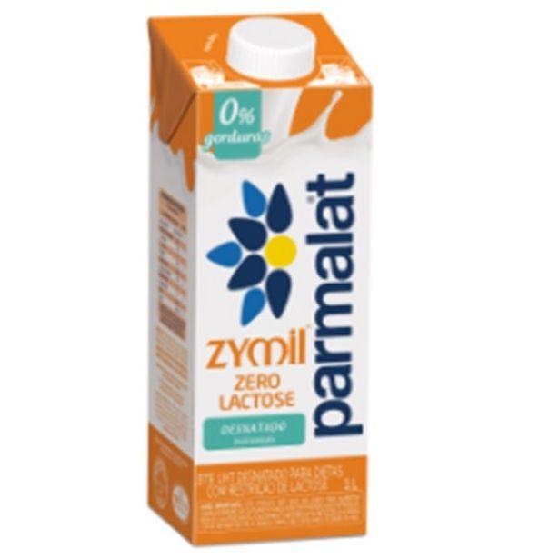 Oferta de Leite Uht Desnatado Zero Lactose Parmalat Zymil Caixa com Tampa 1L por R$3,69