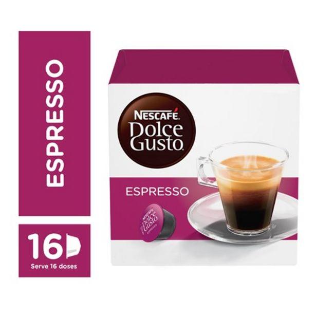 Oferta de Café Cápsula Nescafé Dolce Gusto Espresso 16Un por R$26,9