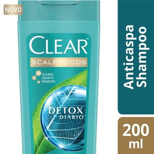 Oferta de Shampoo Anticaspa Clear Detox Diário 200Ml por R$17,29