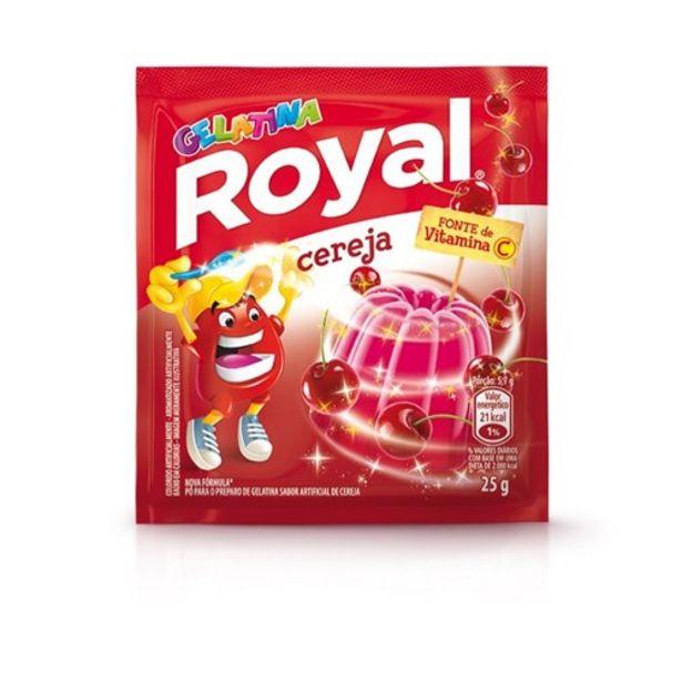 Oferta de Gelatina Royal Cereja Sachê 25G por R$1,09