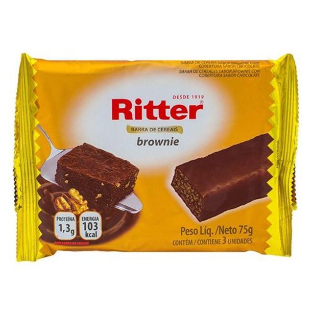 Oferta de Barra de Cereal Ritter Brownie Embalagem 75G por R$3,19