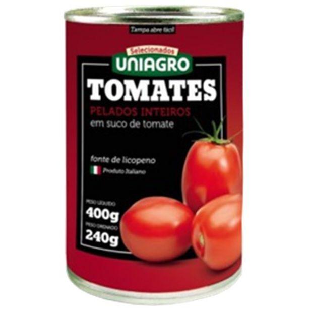 Oferta de Tomate Pelado Uniagro Embalagem 240G por R$4,49