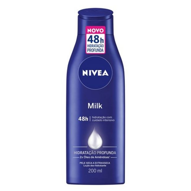 Oferta de Hidratante Nivea Milk Embalagem 200Ml por R$11,98