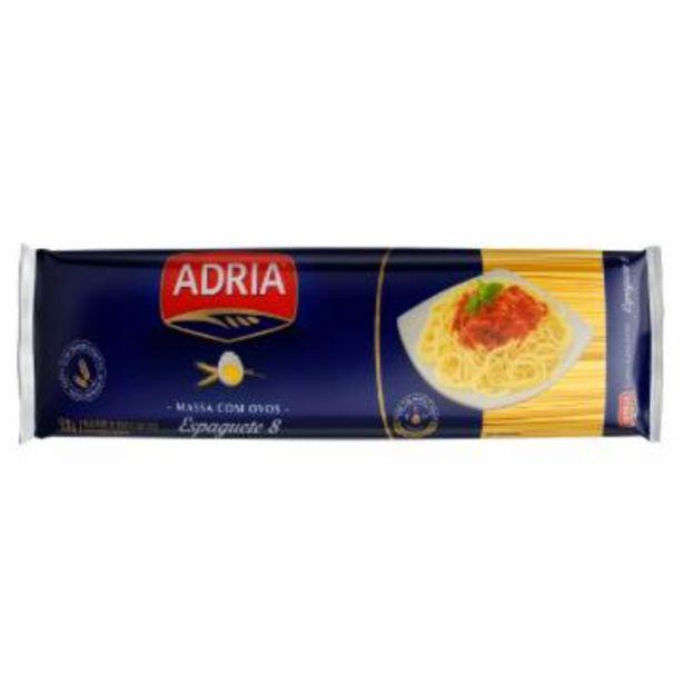 Oferta de Mac Adria C/ovos Espaguete 8 500G por R$3,99