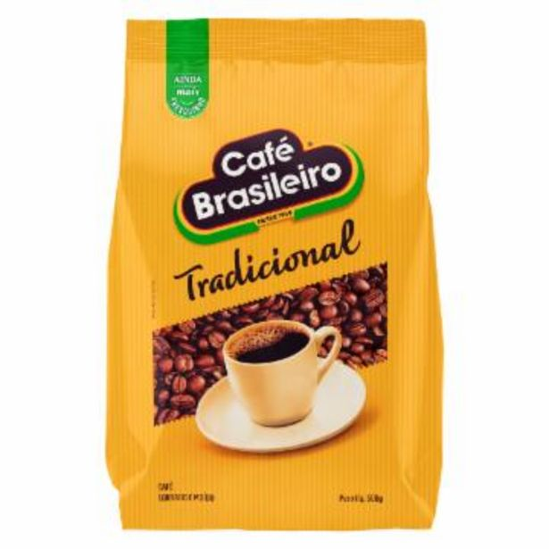 Oferta de Cafe Brasileiro Tradicional Almofada 500G por R$8,99