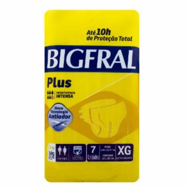 Oferta de Fralda Geriatrica Bigfral Plus C/07 Xg por R$23,85