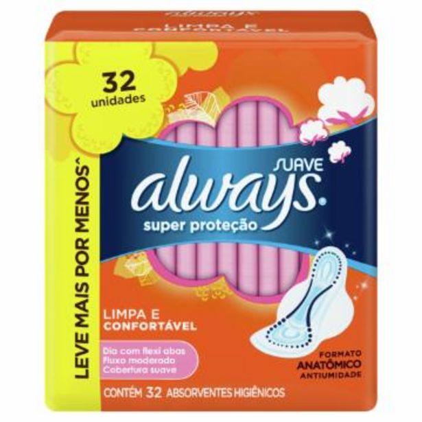 Oferta de Abs Always Prot M/sv C/a C/32 por R$15,65