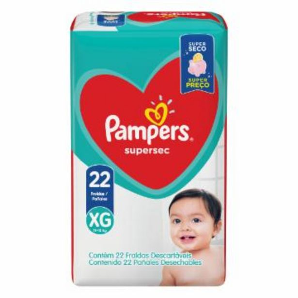 Oferta de Franda Infantil Pampers Supersec Xg C/22 por R$27,75