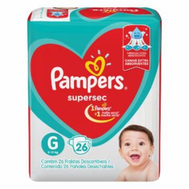 Oferta de Franda Infantil Pampers Supersec G C/26 por R$27,75