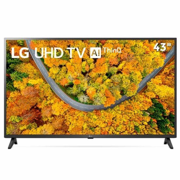 """Oferta de Smart TV 4K 43"""" LED UHD LG 43UP7500PSF Ultra Surroun... por R$2659,63"""