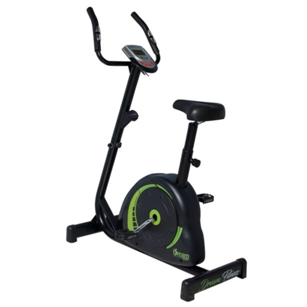 Oferta de Bicicleta Ergométrica Dream Fitness Concept V Monitor 6 Funções com Medidor de Batimento Cardíaco - Preto/Verde por R$1199,61