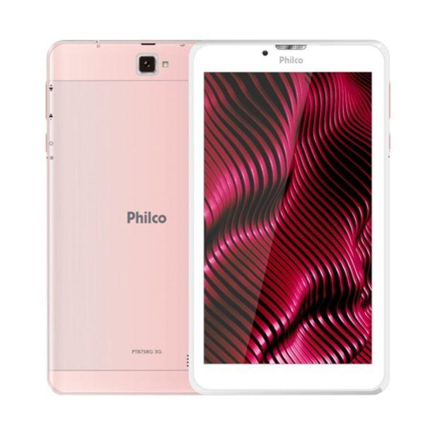Oferta de Tablet Philco PTB7SRG 3G 16GB 1GB RAM Câmera traseir... por R$619,07