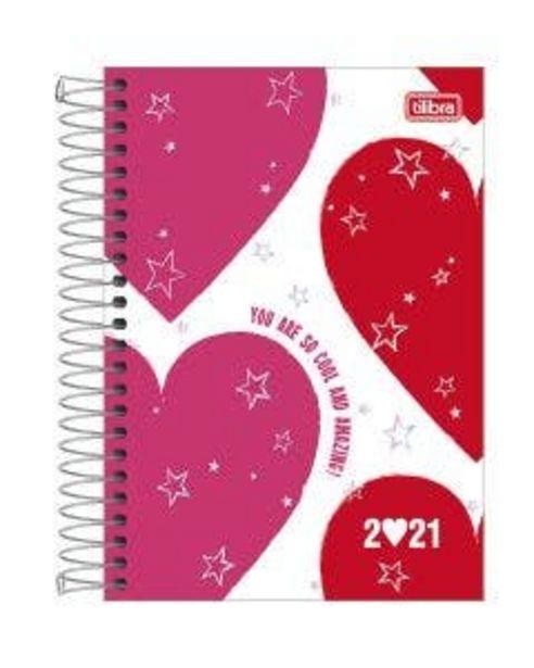 Oferta de Agenda Tilibra Espiral Love Pink por R$31,94