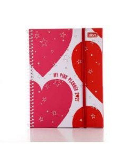 Oferta de Agenda Tilibra Espiral Planner  Love Pink por R$26,99