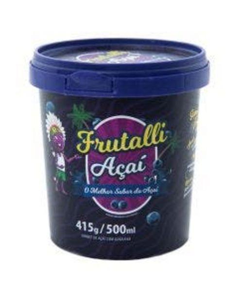 Oferta de Açaí Frutalli com Guaraná 500ml por R$18,9