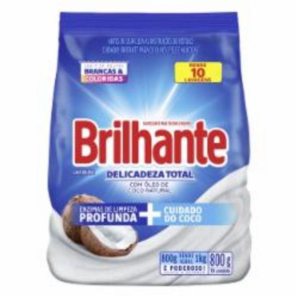 Oferta de DET PO BRILHANTE 800g COCO por R$7,49