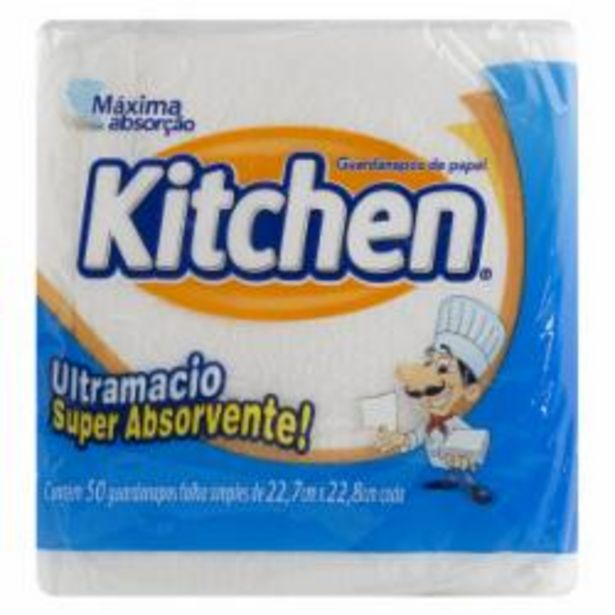Oferta de GUARDANAPO KITCHEN 23.5X22 C.50 por R$2,99