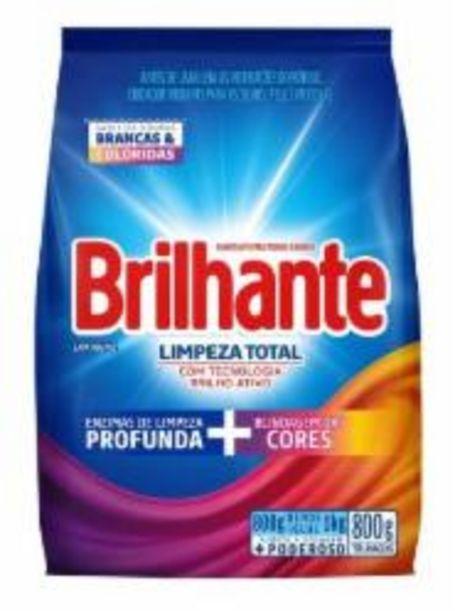 Oferta de DET PO BRILHANTE 800g LIMPEZA TOTAL por R$7,49