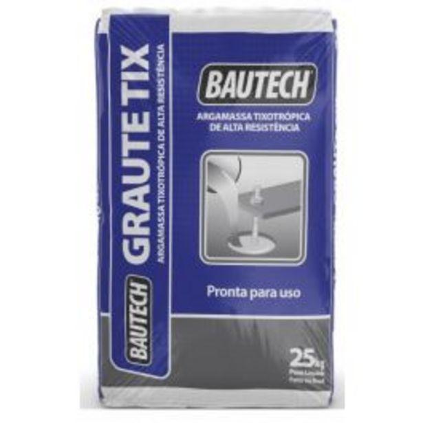 Oferta de Graute TIX Bautech 25Kg por R$67,9