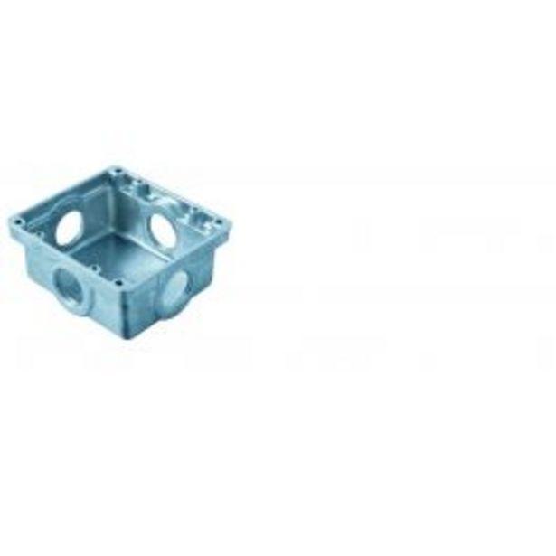 Oferta de Caixinha de Embutir para Piso 4x4 Baixa 1 em Alumínio por R$16,49