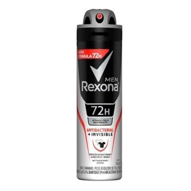 Oferta de Desodorante Rexona Aerosol Men Antibacterial Invisible 150ml por R$15,11