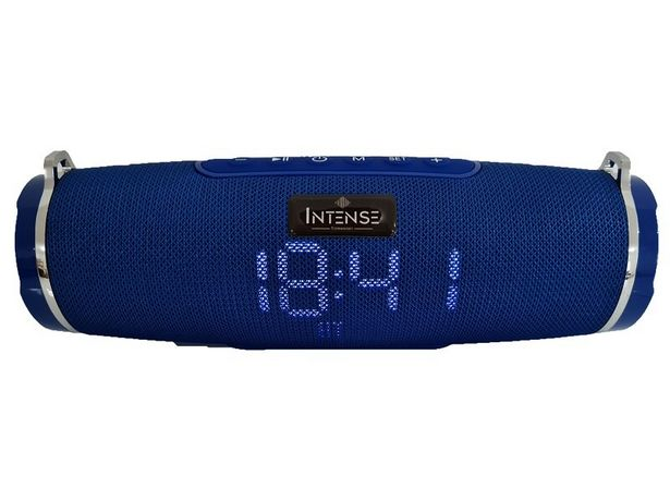 Oferta de Speaker Radio Relógio Intense CLK ISP-0176 30W - Azul por R$161,41