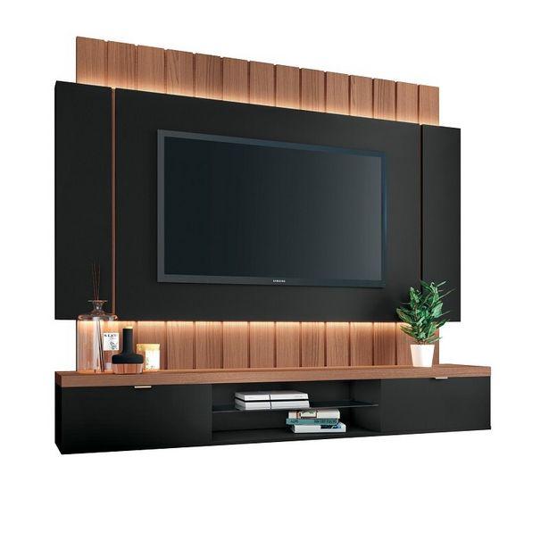 """Oferta de Painel HB Móveis Para TV Até 55"""" Home Illusion 3971 - Preto / Nature por R$1082,91"""