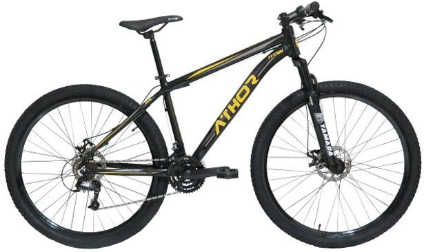 Oferta de Bicicleta Athor Aro 29 Titan 41931 21V Preto/Amarelo por R$1424,91