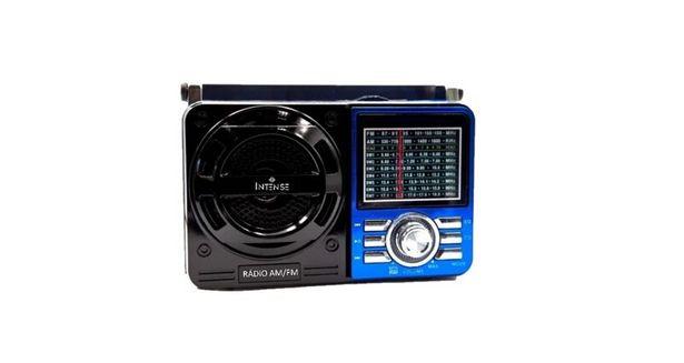 Oferta de Rádio Portátil Intense 9 Faixas USB IRA-1088 - Azul por R$174,71