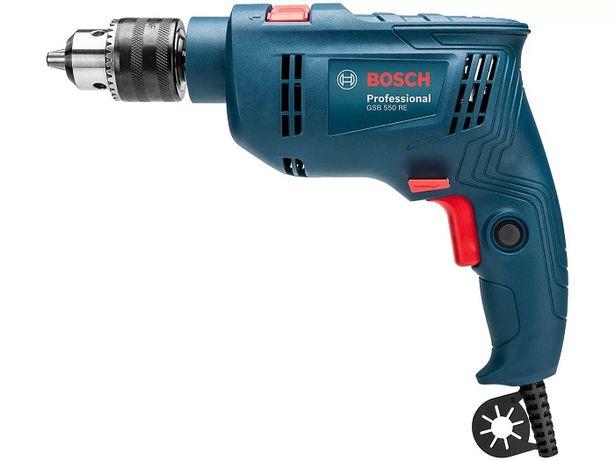 Oferta de Furadeira Impacto Bosch GSB550 220V Azul por R$303,91