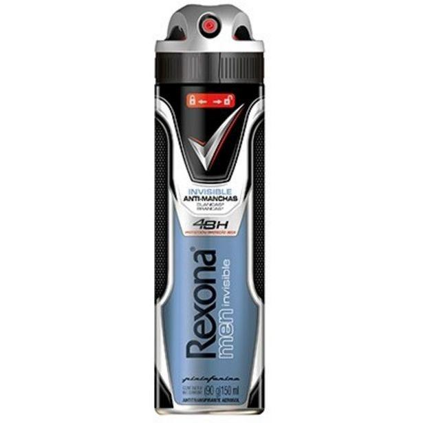 Oferta de Desodorante Rexona Aerosol Men Invisible 150ml por R$15,11