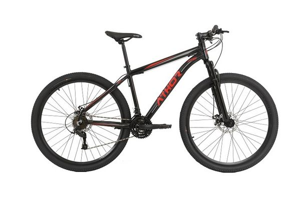 Oferta de Bicicleta Athor Aro 29 Titan Alumínio T15, 21V - Preto/Vermelho por R$1424,91