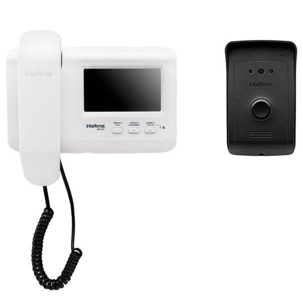Oferta de Vídeo Porteiro Intelbras IVR1010  Preto/Branco por R$474,91