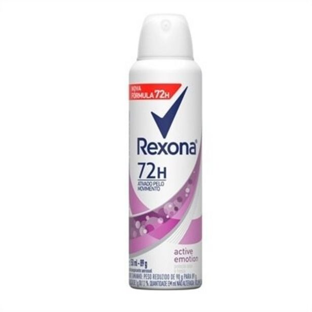 Oferta de Desodorante Rexona Aerosol Women Active Emotion 150ml por R$16,06